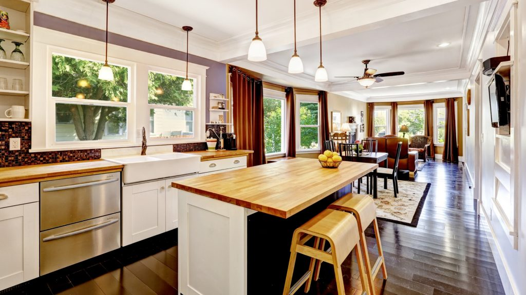 open concept kitchen and living room ideas
