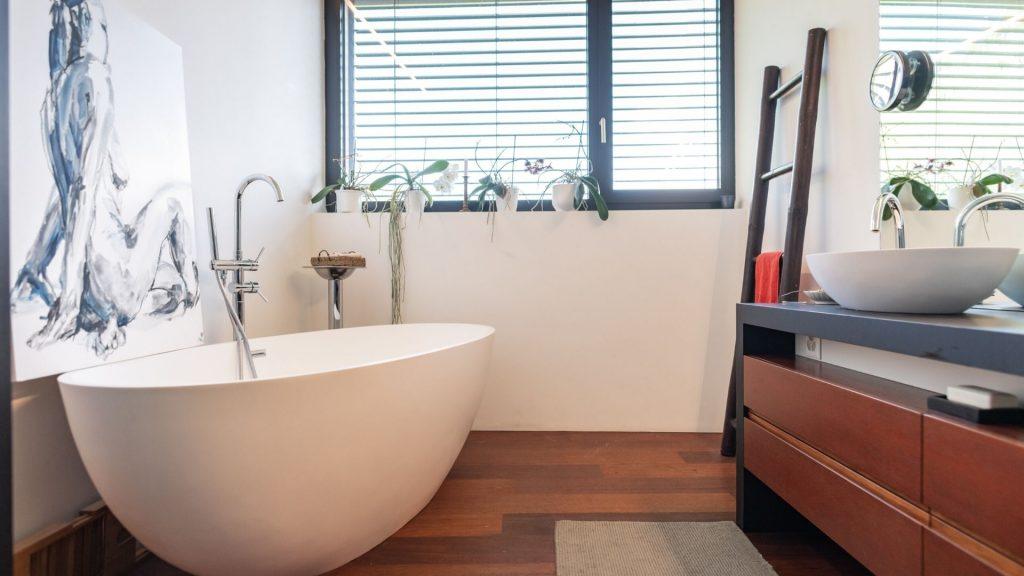 where money goes for master bathroom remodel